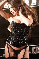 Allure 11-1907 Sexy Hot Black Vinyl Corset