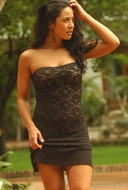 Ujena Swimwear  J600  Strapless Lace Mini Dress
