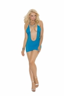 Super Deep V Club Dress 8287