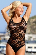 UjENA Sheer French Lace 1-pc Swimwear W107 to Size 22