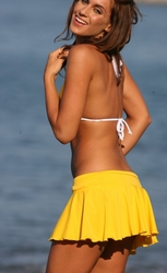 Ujena Swimwear  K700  Sexy Bikini Cover Up Flirty Flip Skirt