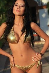 Ujena Swimwear  L257  Gold Rock n Roll Bikini