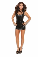 Wet Look Mini Dress 8131