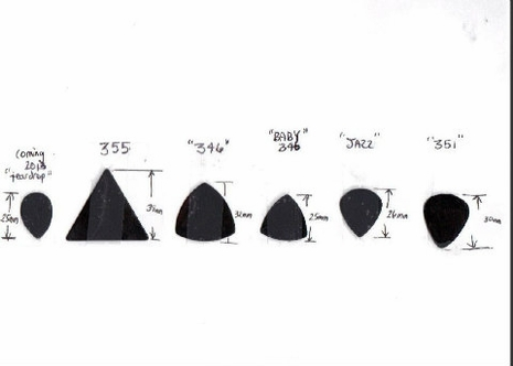 346 Large rounded triangle Pick Punch