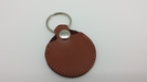 Round Leather Guitar Pick Key Chain