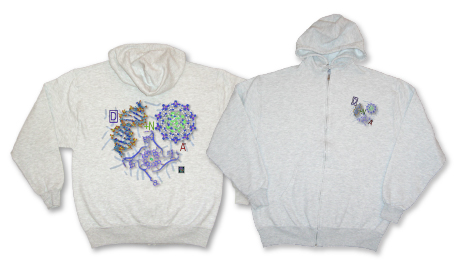"""DNA""� - Zippered Hoodie for Men"