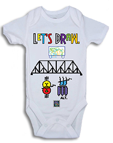 """Let's Draw""� - Onesie for Infants"