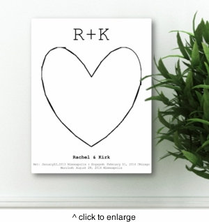 Our Story Guestbook & Keepsake Canvas - click to enlarge