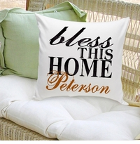 Bless This Home Decorative Pillow
