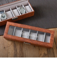 Brown Crocodile Watch Box