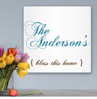 Bless This Home Personalized Canvas Print