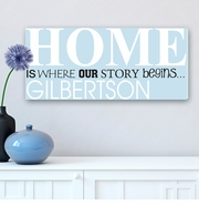 Where Our Story Begins Personalized Canvas Print