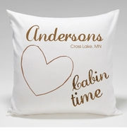 Cabin Pillow Throw-Heart