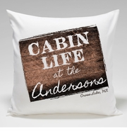 Cabin Throw Pillow-Cabin Life