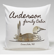 Cabin Throw Pillow-Loon