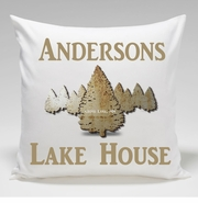 Cabin Throw Pillow-Spruce