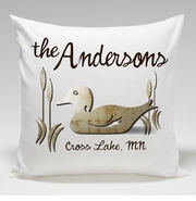 Cabin Throw Pillow-Wood Duck