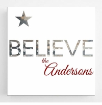 Christmas Canvas Sign - Believe