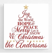 Christmas Canvas Sign - Joy