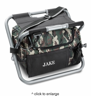 Deluxe Camouflage Sit n' Sip Cooler Seat - click to enlarge
