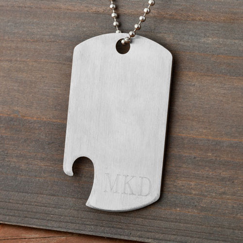 Personalized Dog Tag Bottle Opener