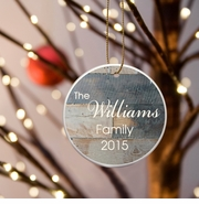 Family Name Ceramic Ornament - Barnwood