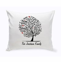 Family Roots Throw Pillow