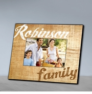 Family Wood Grain Picture Frame-Brown