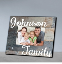 Family Wood Grain Picture Frame-Grey