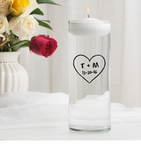 Heart of Love Floating Unity Candle (CP11)