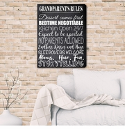 Grandparent's Rules Canvas Print
