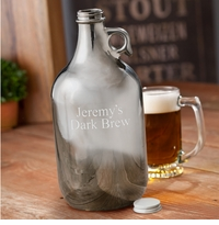 Personalized Gunmetal Beer Growler