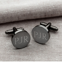 Gunmetal Round Cuff Links