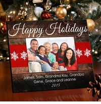 Holiday Picture Frame - Red Ribbon