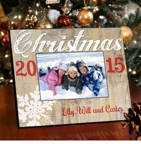 Holiday Picture Frame - Snowflakes