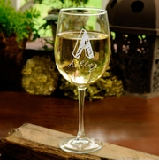 Kate Monogram White Wine Glass