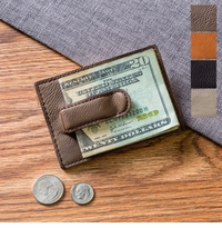 Leatherette Money Clip & Wallet