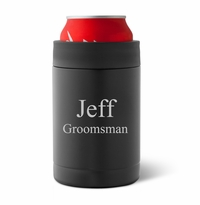 Personalized Matte Black Double Wall Insulated Can Holder