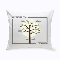Modern Family Tree Throw Pillow