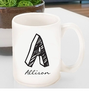 Monogram Designed Coffee Mugs