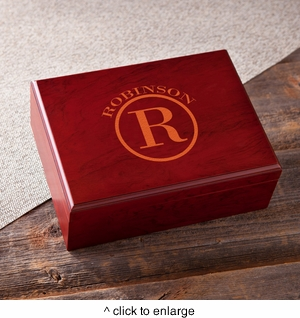 Monogrammed Humidor - click to enlarge