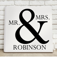 Mr & Mrs Black and White Canvas