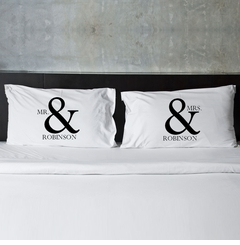 Mr & Mrs Couple's Pillow Case Set