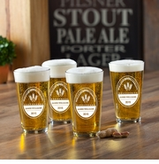 Personalized Pub Glass Set - Brewing Company