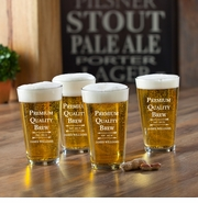 NEW Personalized Pub Glass Set -  Premium Brew