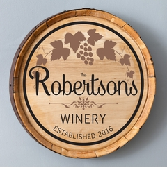 New Wine Barrel Home Decor Sign - Cabernet