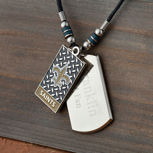 Personalized NFL Dogtag + Charm Necklace