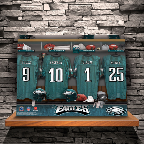 NFL Locker Room Canvas Prints