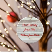 Our Family Ceramic Ornament - Birch