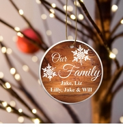 Our Family Ceramic Ornament - Rosewood